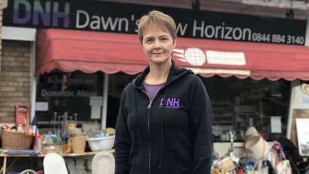 Lorraine Saunders, founder of Dawn's New Horizon on Cannerby Lane which has a charity shop and advic