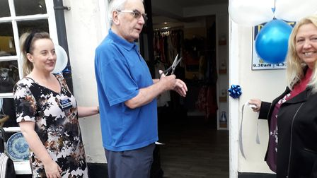 PACT co-founder George Rockinghamopening a new store in Eaton, Norwich. Picture: Janet Morris