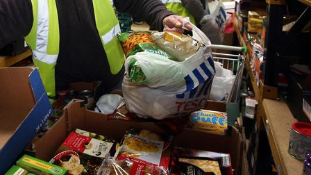 Food banks are in desperate need of donations amid the coronavirus outbreak. Picture: David Jones/PA
