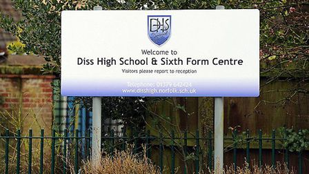 Diss High School was closed to all pupils on the first day of the coronavirus school measures. Pictu