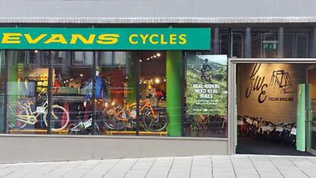 Evans Cycles in Norwich. Pic: Evans Cycles