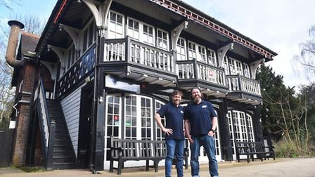 Ian Hacon and Chris Carr on the day they announced they were taking over Zaks. Pic: Archant