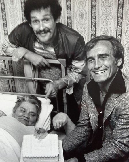 Rock on Tommy! The much-loved comedy duo Cannon and Ball when they were appearing at the Britannia P