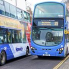 First bus. Picture: Edward Starr
