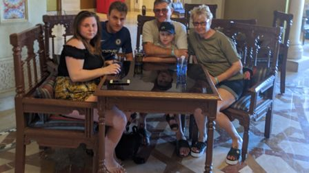 A family from Dereham have become stranded in Egypt because of the coronavirus pandemic. Pictured (r