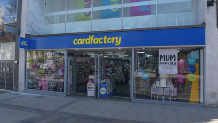 March 22nd 2020 Mother's Day. City is empty due to coronavirus Warnings. Card Factory Pictures: BRIT