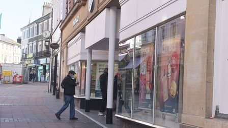 March 22nd 2020 Mothers Day. City is empty due to coronavirus warnings Queues outside Boots Chemist