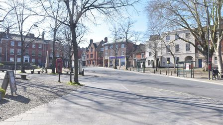 March 22nd 2020 Mother's Day. City is empty due to coronavirus warnings. Tombland. Pictures: BRITTAN