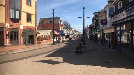 A near-empty Great Yarmouth town centre during the lockdown. Picture: Tony Carroll