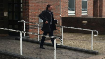 Nevin Pennington leaving Norwich Magistrates Court. PIC: Peter Walsh.