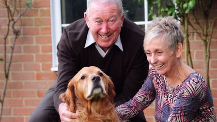 Former Norwich City boss Ken Brown with wife Elaine at their Norfolk home Photo by Simon Finlay.