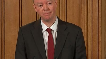 A screengrab taken from PA Video of Chief Medical Officer Chris Whitty speaking during a press confe