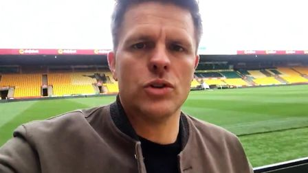 Television presenter Jake Humphrey has posted a message from Carrow Road on social media, amid footb