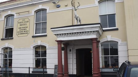 """The White Hart Hotel in Hingham has closed """"until further notice"""" over the coronavirus outbreak. Pic"""