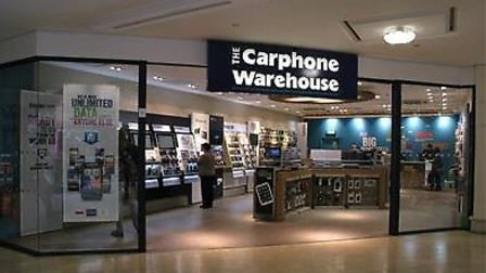 Carphone Warehouse which is shutting all its stand-alone stores. Pic: Carphone Warehouse