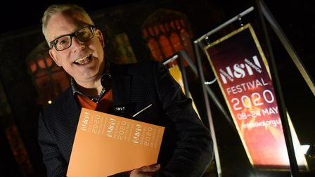 Daniel Brine, artistic director and chief executive at the launch of the Norfolk and Norwich Festiva