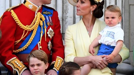 Prince William, the, Duchess of Cambridge, Prince Louis, Prince George and Princess Charlotte who ha