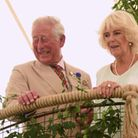 Prince Charles and the Duchess of Cornwall at the Sandringham Flower Show Picture: Denise Bradley