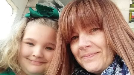 Nicola Sansom with her 10-year-old daughter Evie Sansom. Picture: Evie Sansom