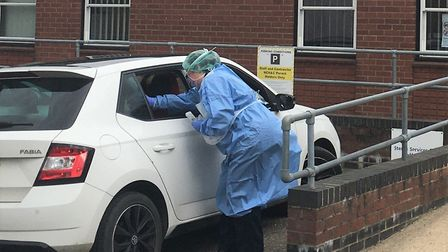 Norfolk and Waveney NHS staff are being tested for coronavirus at drive-throughs at Norwich and Becc