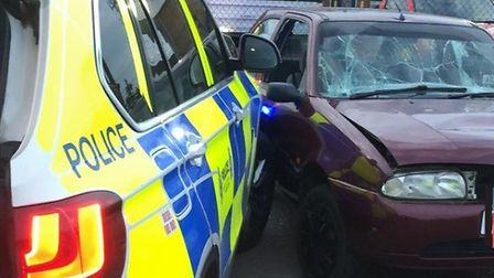 """Officers from the Norfolk & Suffolk Roads and Armed Policing Team (NSRAPT) used """"tactical contact"""" t"""