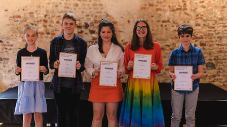 Winners of the 2019 Young Norfolk Writing Competition. Picture: Thom Law