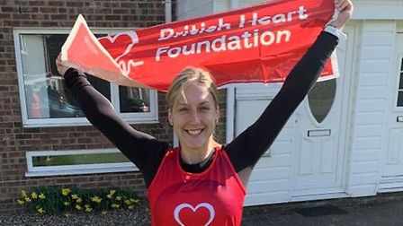 Emily King, who was due to run the 2020 London Landmarks Half Marathon for the British Heart Foundat