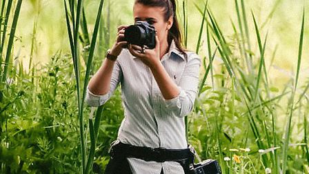 Wedding photographer Gina Manning in action Picture: Gina Manning Photography