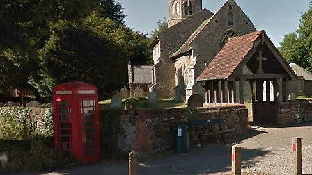 Poringland telephone box which is now redundant and could house a new public access defibrillator. P