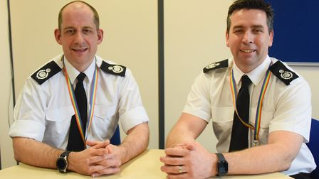 New assistant chief fire officers, Tim Edwards, left, and Scott Norman. Picture: DENISE BRADLEY