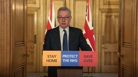 Michael Gove has defended the PM. Photo: PA Video/PA Wire