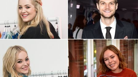 Twins Lucy and Lydia Connell (left) and Jim Chapman and Tanya Burr (right) who are all successful Yo