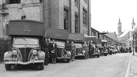 YMCA Norfolk marks role in war years with canteen exhibition. Pictured: A line of YMCA tea wagons an
