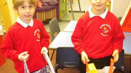 Children at Brancaster Primary School took the chocolate eggs to school on World Book Day so they co