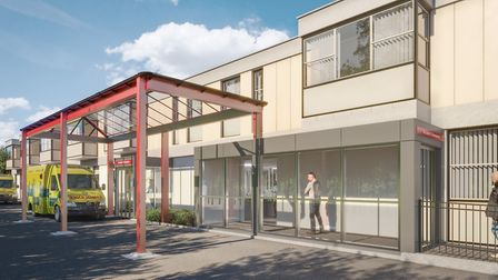 How the new A&E unit will look at the Queen Elizabeth Hospital in King's Lynn Picture: QEH