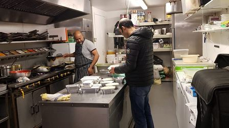 Spice Fusion in Wellington Road, Dereham, preparing food for frontline workers. Picture: Spice Fusio