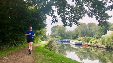Mark Armstrong on a training run. Picture: Alison Armstrong