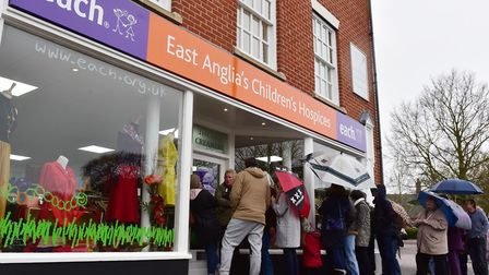 East Anglia's Children's Hospices said income was down a £100,000 a week from its shops.PHOTO: Nick