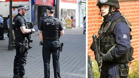 Armed police officers in Norfolk and Suffolk have fired lethal firearms nearly 200 times in the last