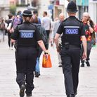 Police on patrol in Norwich city centre. Picture: Nick Butcher