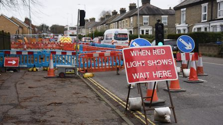 The pothole was fenced off for 31 months. Picture: DENISE BRADLEY
