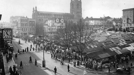A rotting elephant forced the closure of Norwich Market. Picture: Archant Library