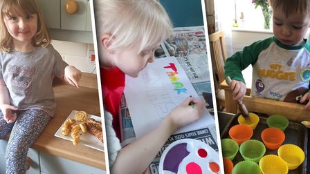 Children have been learning at home. Picture: Mr Seager/Proudmumof41/Langley Prep School at Taverham