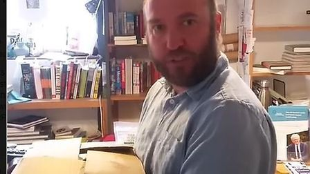"""Henry Layte from the Book Hive starring a short video made by the shop to launch its """"mega"""" isolatio"""