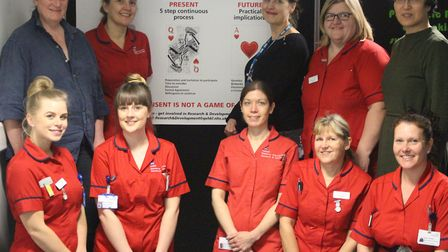 The research and development team at QEH. Picture: QEH