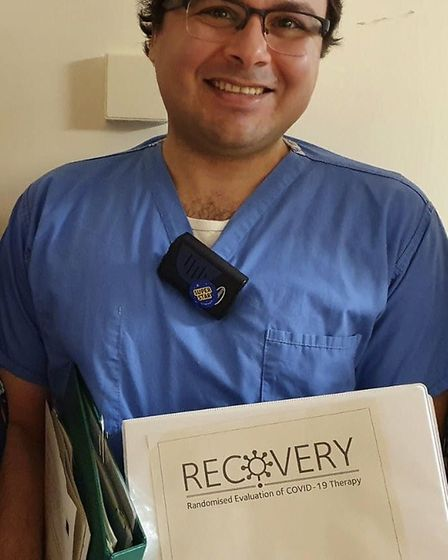 Dr Mohamed Elsaadany recruited the first patient at the Queen Elizabeth Hospital. Picture: QEH