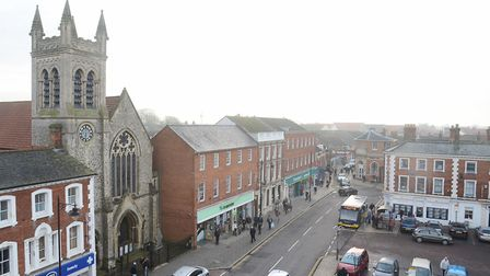 Dereham market place. Can you help the Times continue to carry out important journalism? Picture: Ia