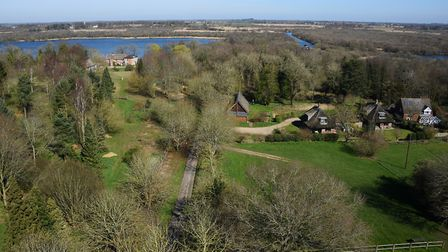 The view across the countryside and Ranworth Broad from the church tower. Picture: DENISE BRADLEY
