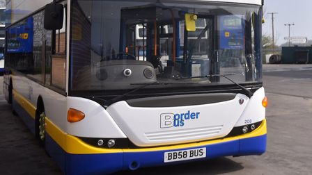 A Border Bus vehicle at Beccles. PICTURE: Jamie Honeywood