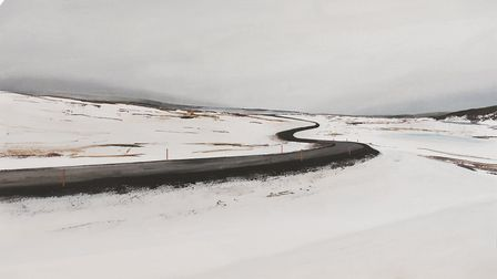 One of the paintings in Trevor Woods' Iceland online exhibition Credit: Trevor Woods